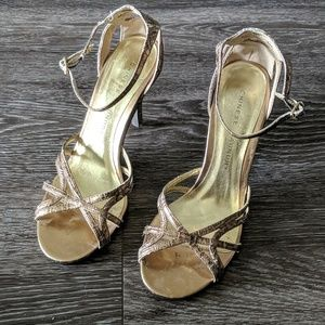 Chinese laundry gold heels size 8.5